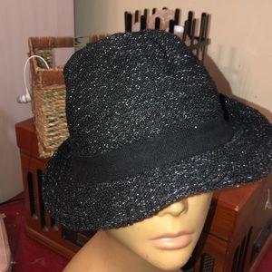 Black silver hat